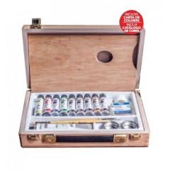 Caja de madera óleos extrafino 10