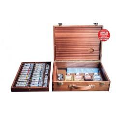 Caja de madera óleos extrafino 24