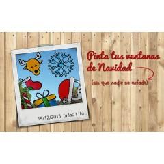 Pinta y decora tus ventanas en Navidad