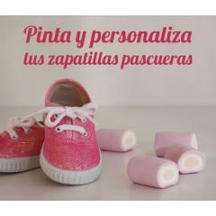 Pinta y personaliza tus zapatillas pascueras
