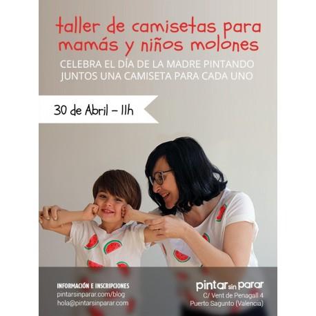 Taller de camisetas para mamás y niños molones