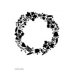 Stencils diseños coronas