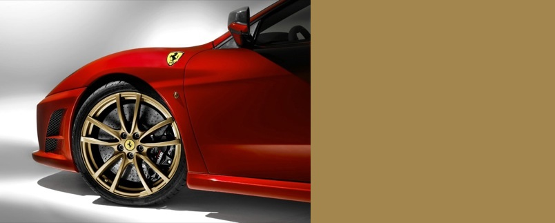 Pintura llantas Ferrari F430 doradas challenge wheels gold