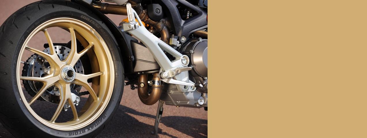 Pintura llantas Ducati monster doradas