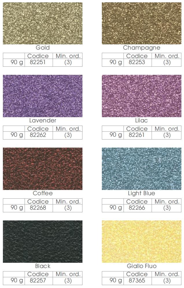 Colores purpurina en polvo