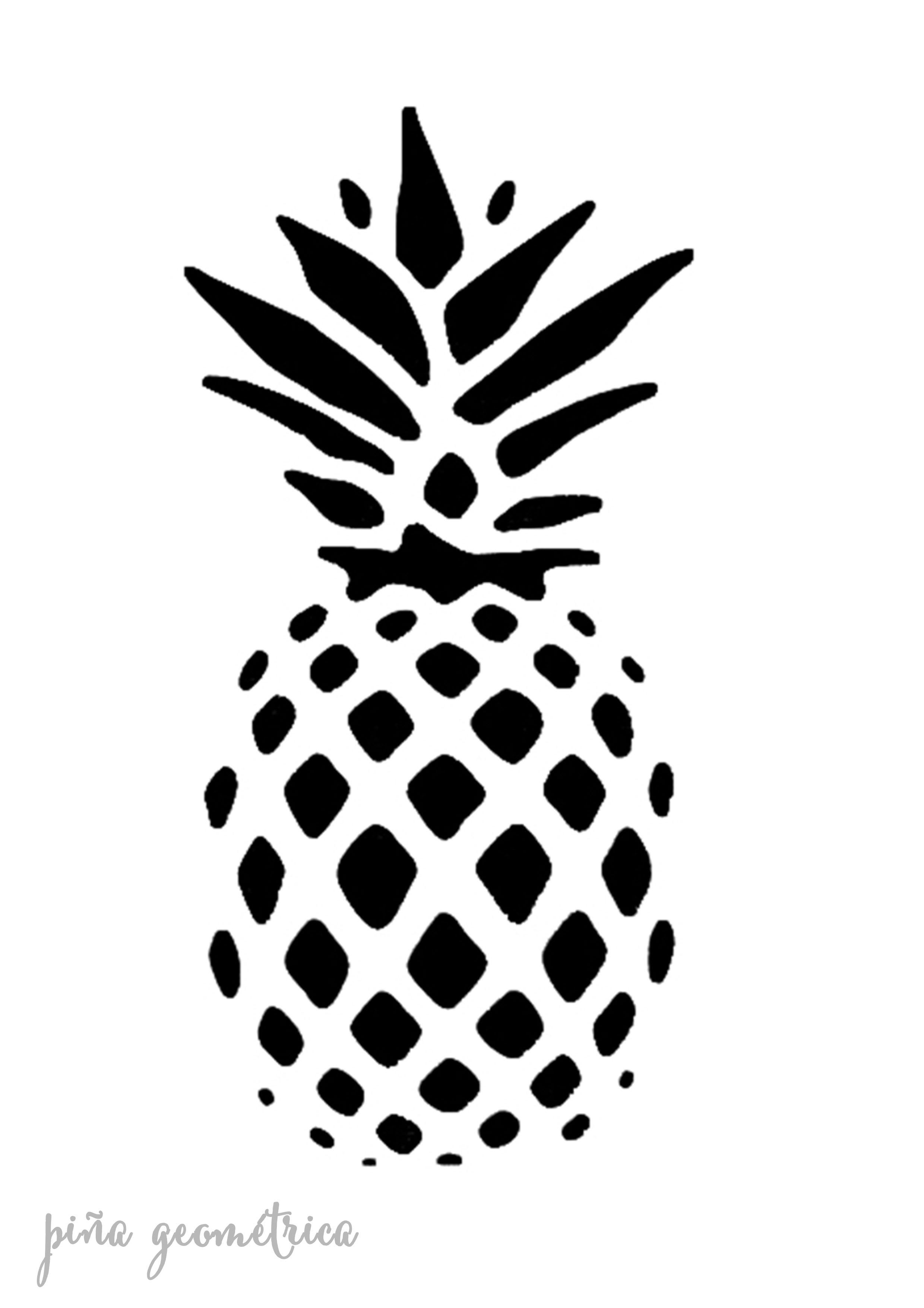 Stencil plantilla piña