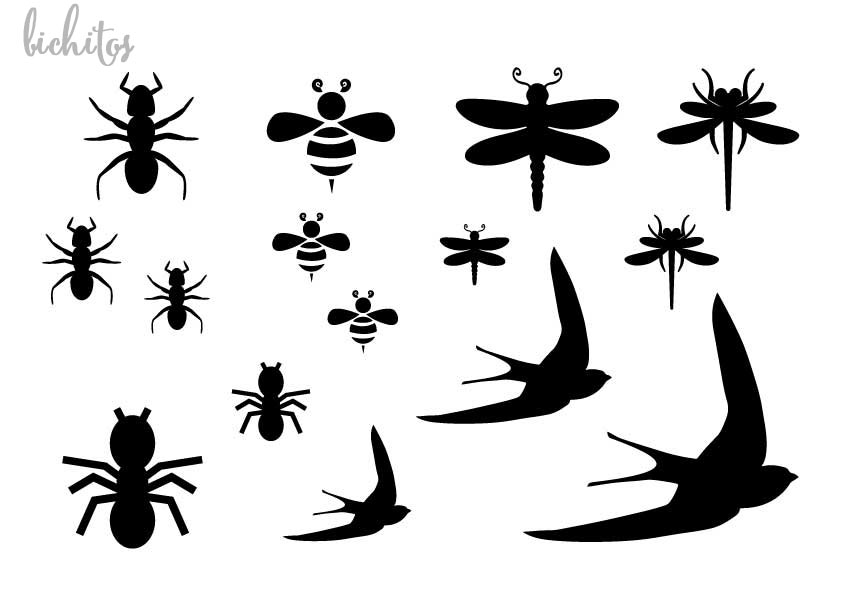 Stencil plantilla wild life