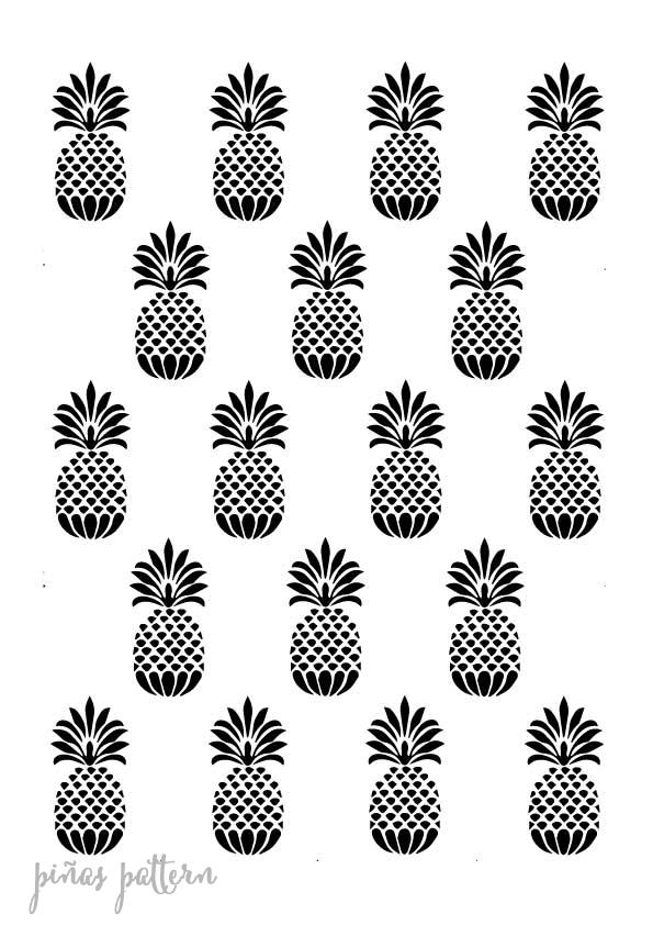 Stencil plantilla pattern piña