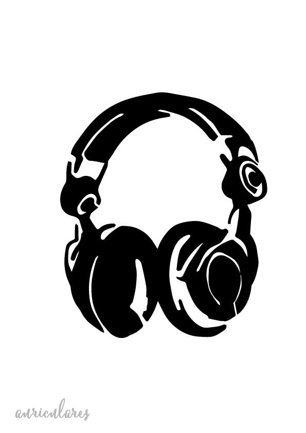 Stencil plantilla auriculares