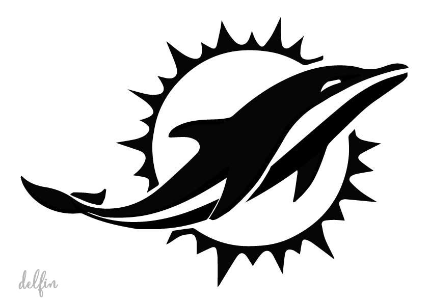 Stencil plantilla delfin