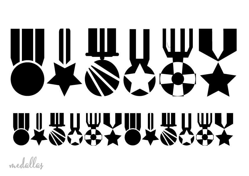 Stencil plantilla medallas