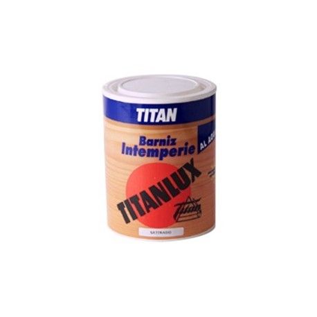 Barniz Titanlux intemperie al agua satinado