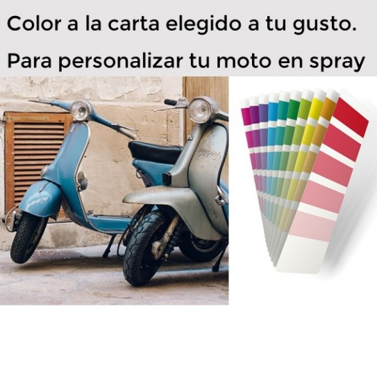 Kit para pintar tu moto con spray color a la carta