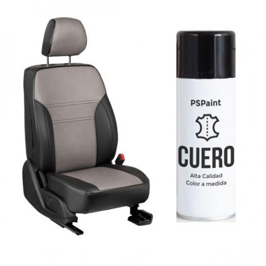 Spray pintura asientos de cuero y polipiel