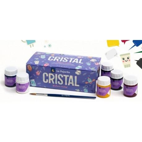Surtido 6 colores pintura para cristal al agua