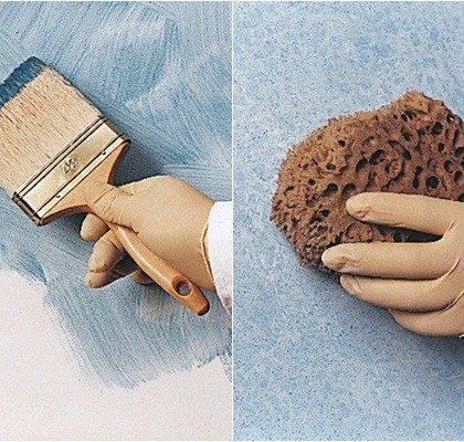 Pintura decorativa: Técnica del esponjado