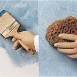 Pintura decorativa Técnica del esponjado