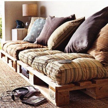 Cómo construir un sofá con palés