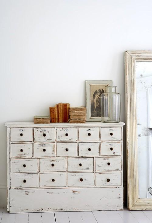 Pintar Mueble De Madera En Blanco Envejecido : T?cnica para envejecer un mueble