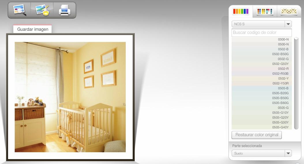 Simulador de ambientes de pintura - Simulador pintar habitacion ...