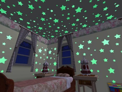 Dormitorio infantil estrellado