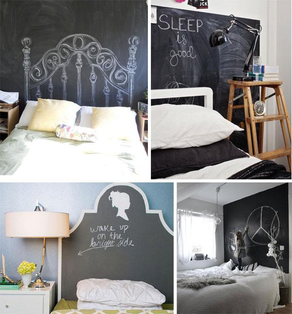 Ideas originales para usar pintura de pizarra - Pintura de pizarra para pared ...