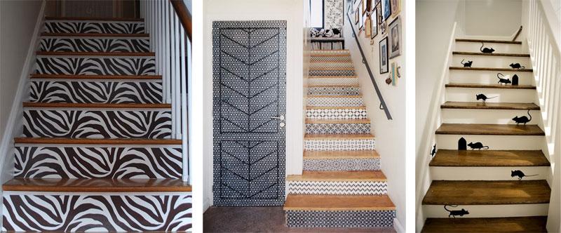 Ideas para escaleras con estilo originales y divertidas for Ideas para decorar escaleras de madera