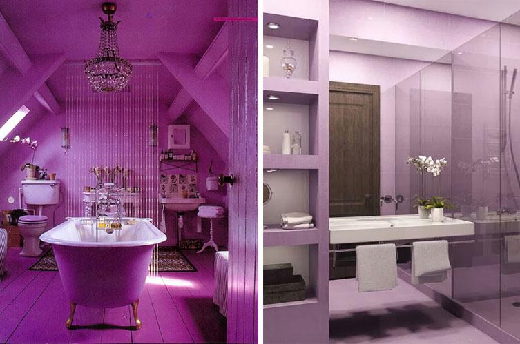 Cuartos de baño con Radiant Orchid