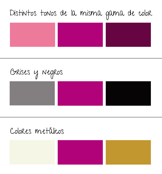 colores con Radiant Orchid