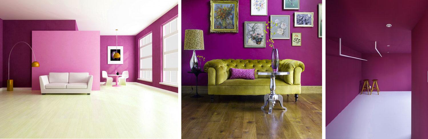 Ideas para decorar con radiant orchid el color del a o - Color ocre para paredes ...