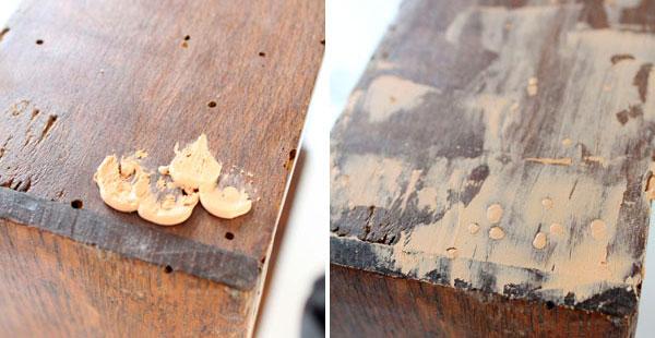 C mo eliminar la carcoma - Masilla para reparar madera ...