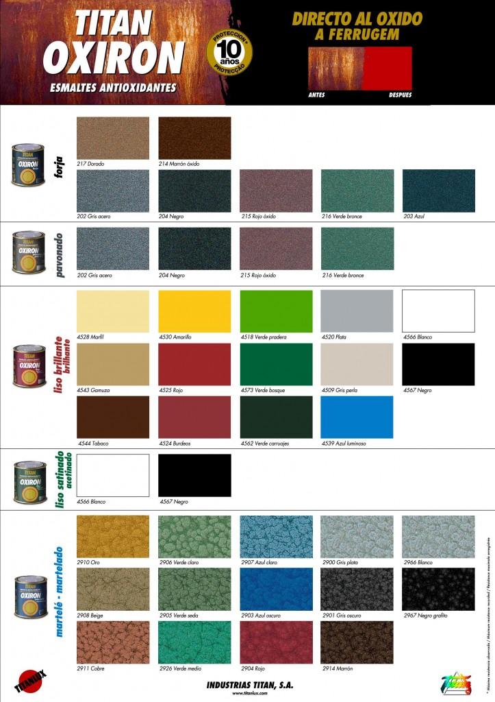 Carta color fabricante