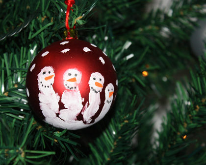 Bolas de Navidad para decorar con niños