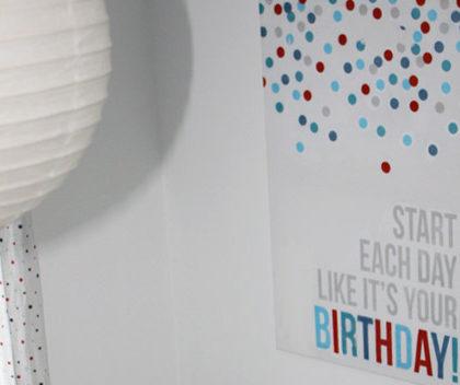 Personaliza una habitación infantil con tu frase favorita y foto transfer