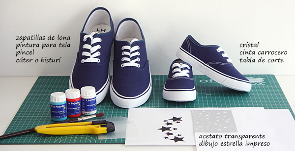 gran descuento 721a3 19a2f Zapatillas de lona pintadas a mano con pintura para tela