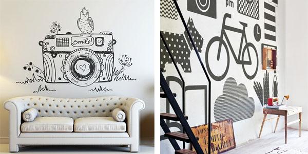 Paredes Con Personalidad Blog Pintar Sin Parar - Dibujos-para-la-pared
