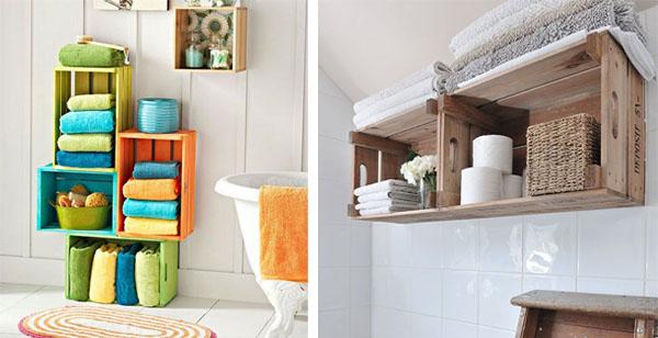 Decorar con cajas de madera blog pintar sin parar for Muebles con cajas de madera