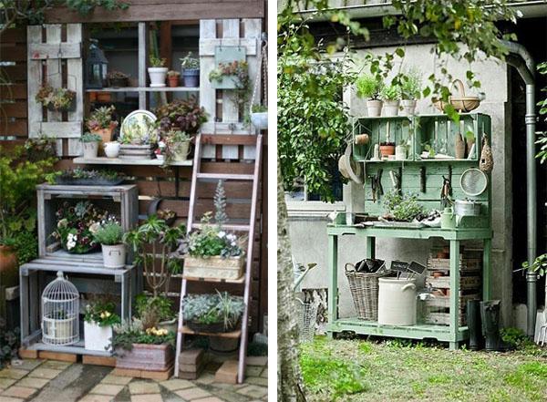 Decorar con cajas de madera blog pintar sin parar - Mueble para plantas ...