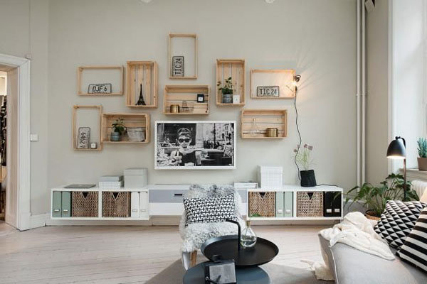 decorar con cajas de madera blog pintar sin parar. Black Bedroom Furniture Sets. Home Design Ideas