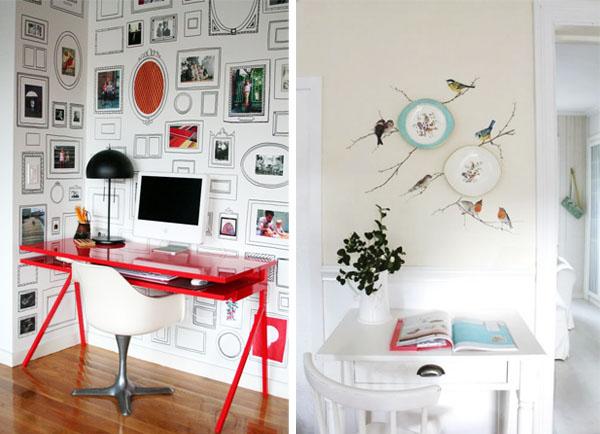 Como pintar paredes j pintadas cool with papel decorativo - Combinar papel pintado y pintura ...