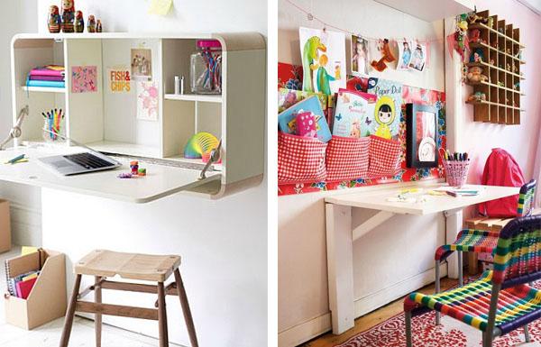 C mo decorar un escritorio - Mesa de estudio plegable ...