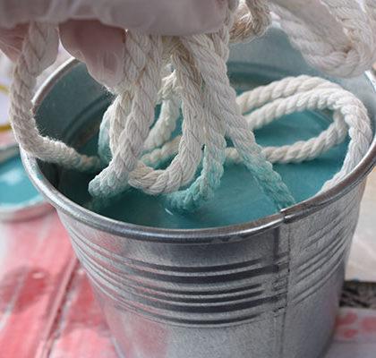 Cómo hacer un cabezal con cordón natural y Chalk Paint