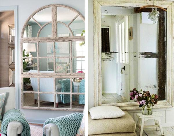 la alternativa al espejo grande es el espejo pequeo puedes hacer un collage de espejos de distintos tamaos y con distintos marcos y queda genial