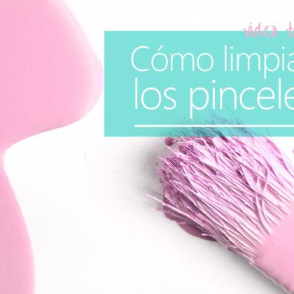 Dos maneras de limpiar la pintura de tus pinceles