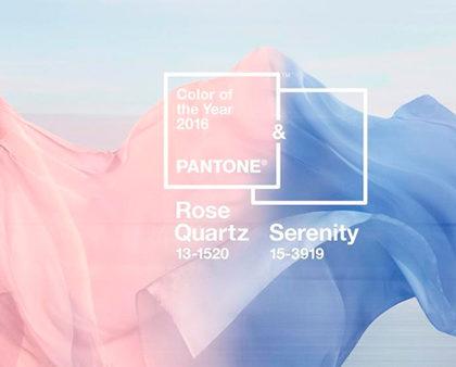 Dice PANTONE que los colores tendencia del 2016 son…