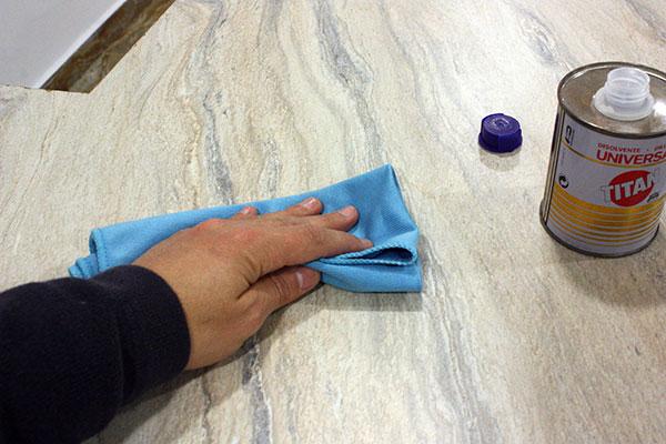 Pintar encimera cocina aglomerado encimera de piedra - Limpiar piedra artificial ...