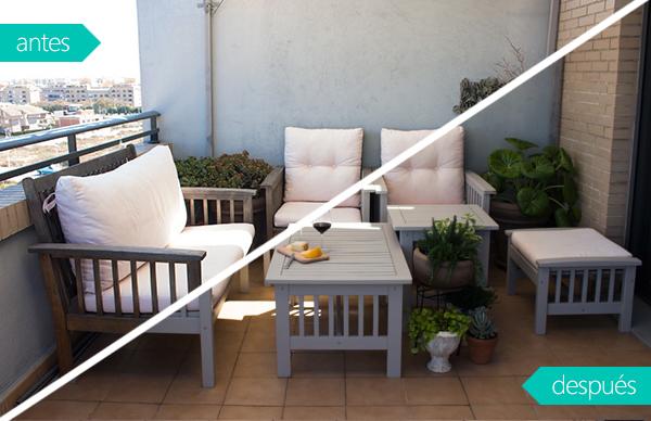 Paso a paso para pintar los muebles de la terraza
