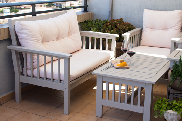 pintar! Pero estoy encantadísima con mi terraza nueva ¿A qué