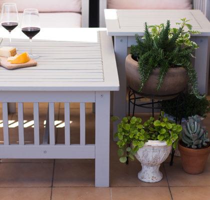 Vamos a pintar los muebles de la terraza con Eggshell