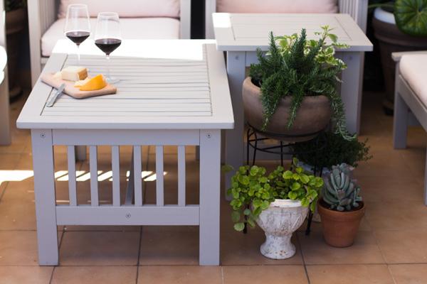 pintar los muebles de la terraza